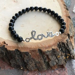 Silverskylight Jewelry - 🔴SALE ! Genuine Onyx cz love valentine bracelet